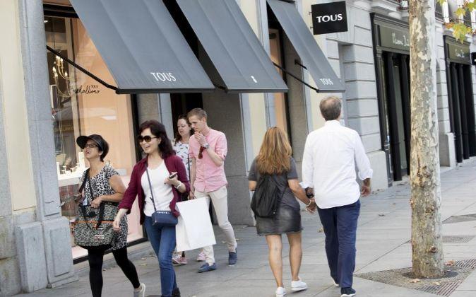 Calle Serrano (Madrid), destino número uno de las marcas de lujo.