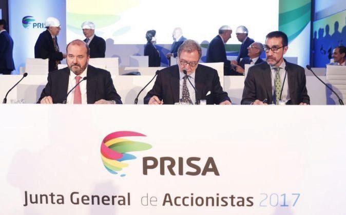 Imagen de la última junta de accionistas de Prisa.