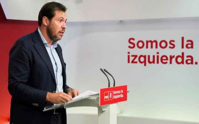 El portavoz de la Ejecutiva Federal del PSOE y alcalde de Valladolid,...