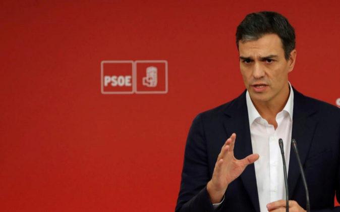 El secretario general del PSOE, Pedro Sánchez, el pasado 11 de...