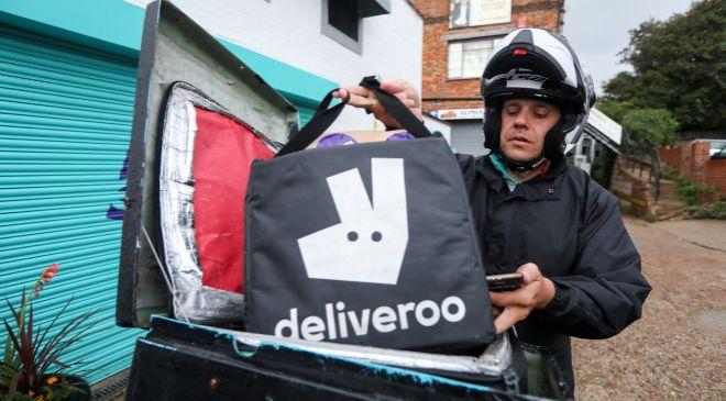 Trabajador de Deliveroo.