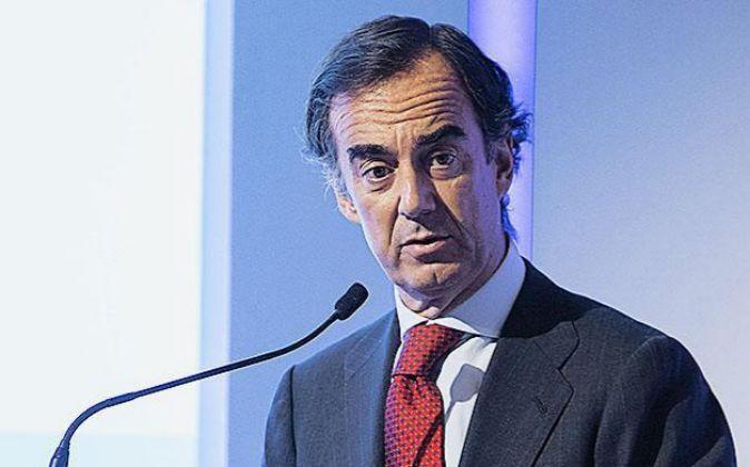 Juan Villar Mir, presidente de OHL en la Junta General de Accionistas...