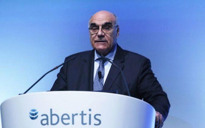 Salvador Alemany, presidente de Abertis en la junta de accionistas de...