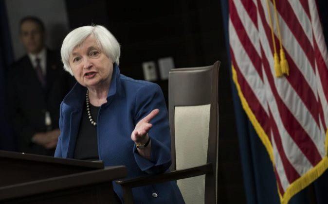 La presidenta de la Reserva Federal (Fed) de Estados Unidos, Janet...
