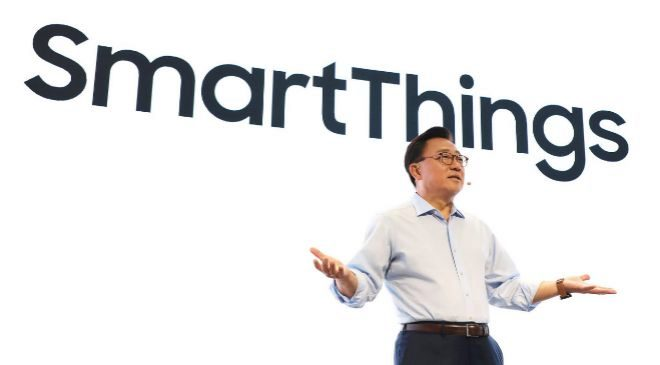 DJ Koh, presidente del negocio de Móviles de Samsung Electronics,...