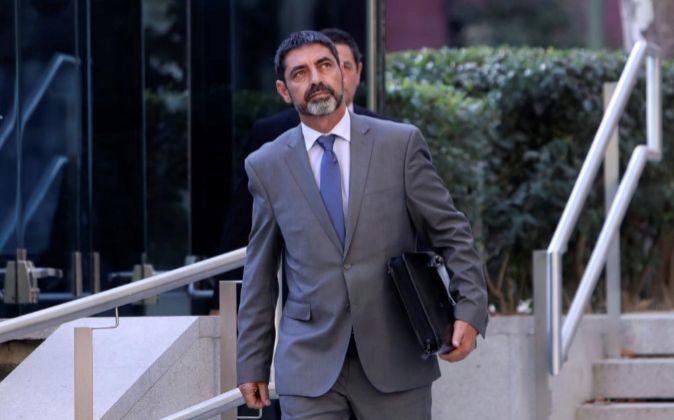 El mayor de los Mossos d'Esquadra, Josep Lluis Trapero, a su...