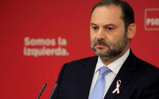 El secretario de Organización del PSOE, José Luis Ábalos, hoy...