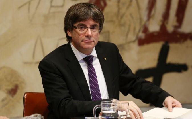 El presidente del Govern catalán, Carles Puigdemont el pasado 17 de...