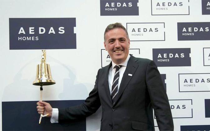 David Martínez, consejero delegado de Aedas Homes, durante el estreno...