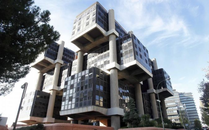 Foto Edificio Los Cubos de Realia junto a la M30 en Madrid.