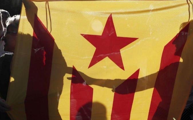 Imagen de manifestaciones a favor de la independencia de Cataluña