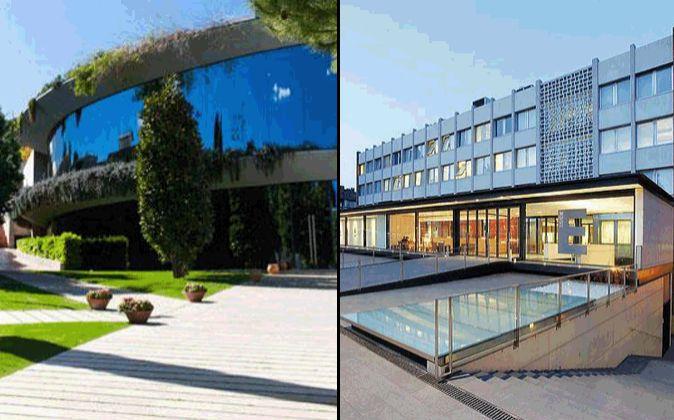 Sede del IESE (izquierda) y Esade en Barcelona.