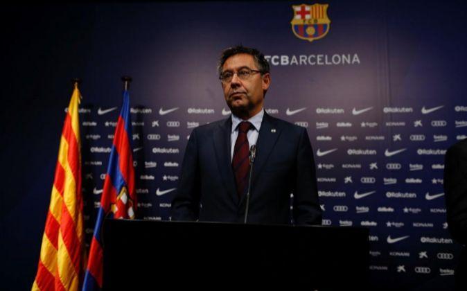 El presidente del FC Barcelona Josep Maria Bartomeu.