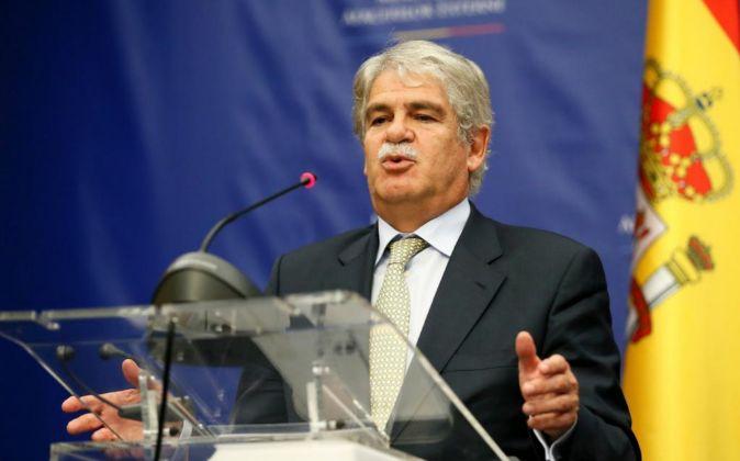 El ministro español de Asuntos Exteriores, Alfonso Dastis.