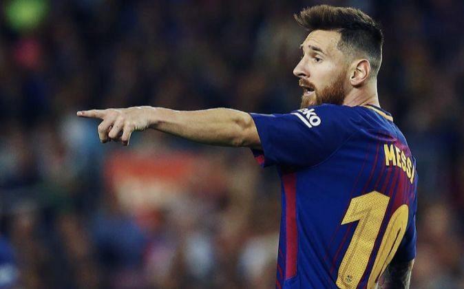 El delantero argentino del FC Barcelona, Leo Messi.