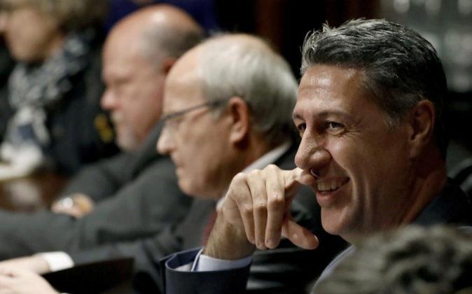 De izquierda a derecha, Francesc Xavier Alegre, de Ciutadans, Jose...