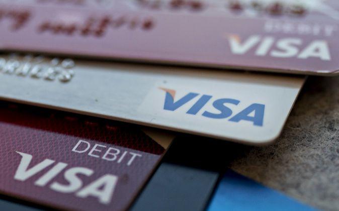 Tarjetas Visa.