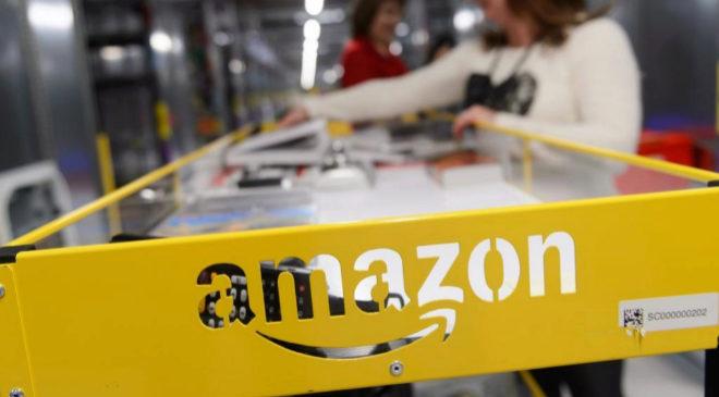 Logo de la compañía Amazon.