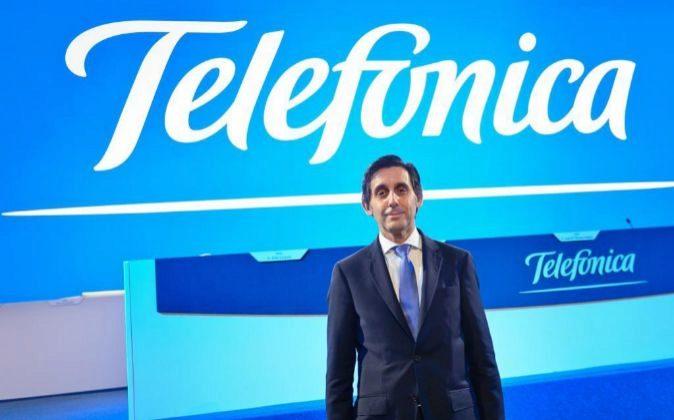 José María Álvarez Pallete, presidente de Telefónica, en la Junta...