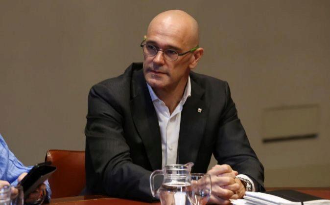 Raúl Romeva, el conseller de asuntos exteriores de la Generalitat