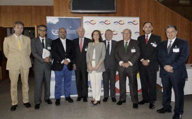 De izquierda a derecha, Joaquín Rodríguez Grau, CEO de Aerópolis y...
