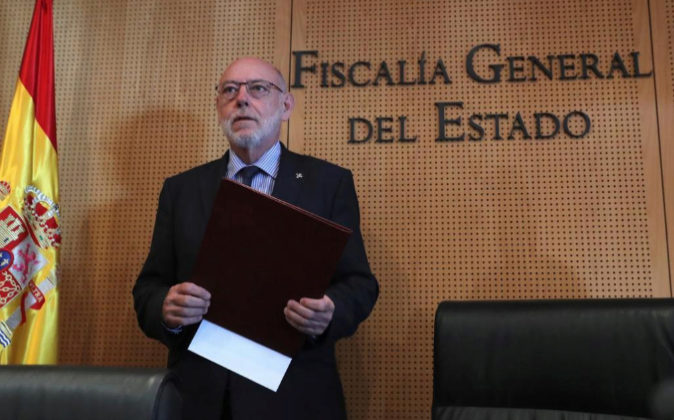 El fiscal general del Estado, José Manuel Maza, a su llegada hoy a la...