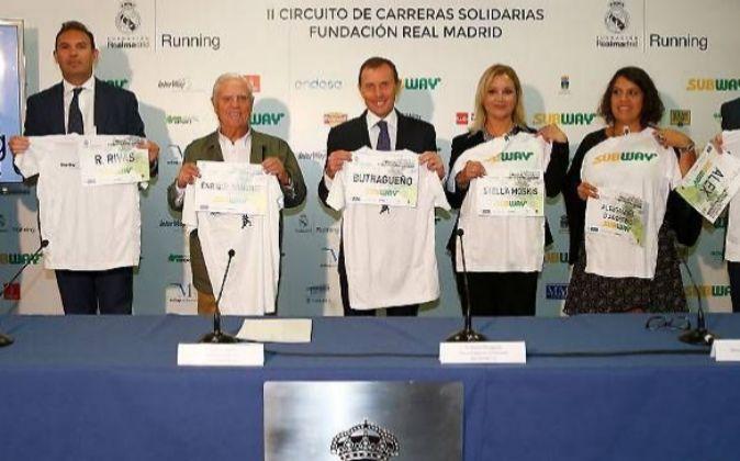 Presentación del Circuito en el Santiago Bernabéu.