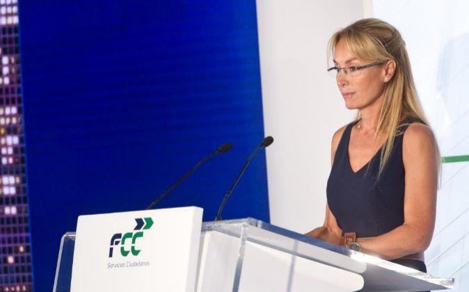 Esther Alcocer Koplowitz, en la junta de accionistas de FCC de 2017.