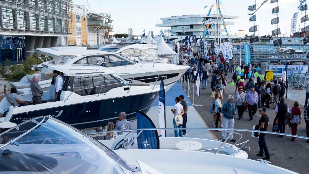 Exposición del Valencia Boat Show, durante la pasada edición 2016. |...