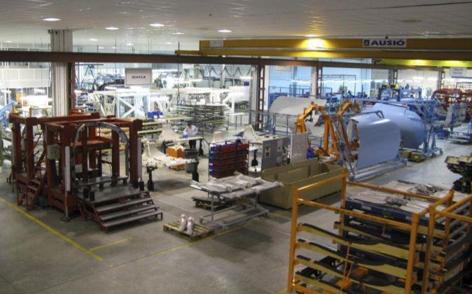El interior de la fábrica de Coasa, del grupo Aernova, en Orense