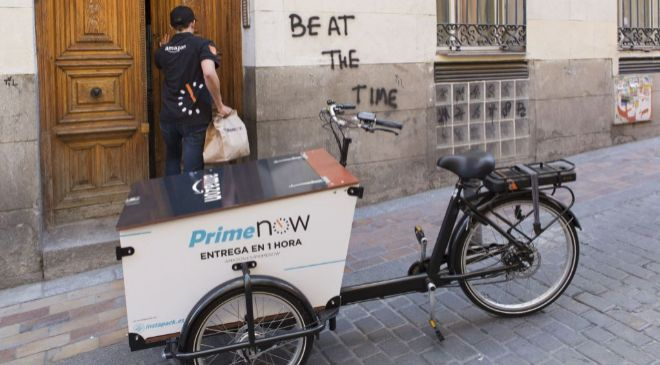 Servicio de entregas urgentes Prime Now de Amazon.