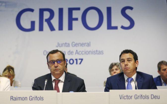 Los consejeros delegados con carácter solidario de Grífols, Raimon...