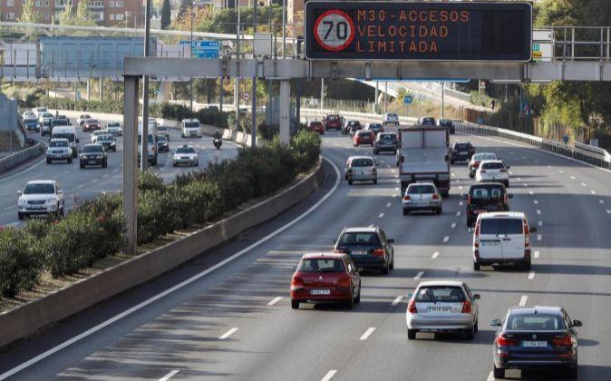 Limitaciones de velocidad en Madrid como consecuencia de la apliación...