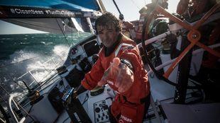 El gallego Chuny Bermúdez de Castro a bordo del Vestas 11th en esta...