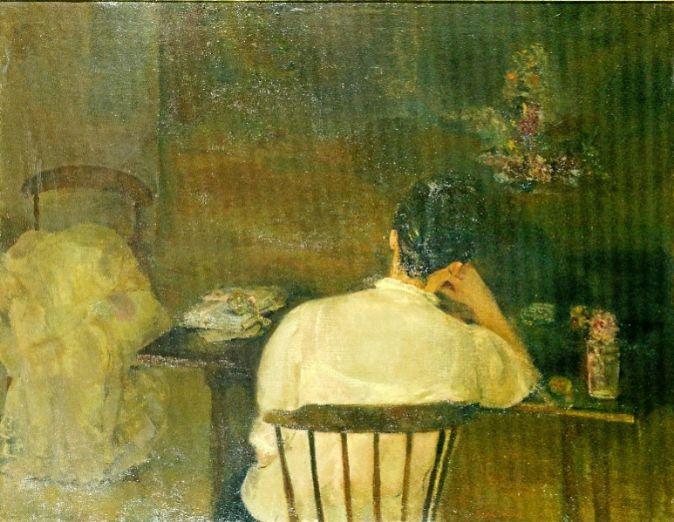 'Mujer sentada de espalda-Las cartas' (1963), de Carmen...