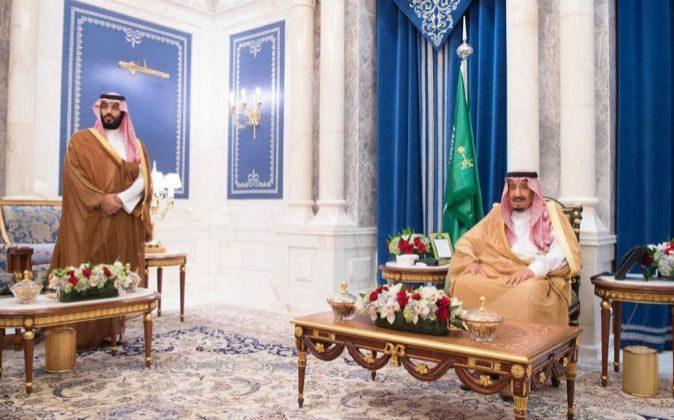 Imagen del príncipe heredero de Arabia Saudí, Mohammad bin Salman...