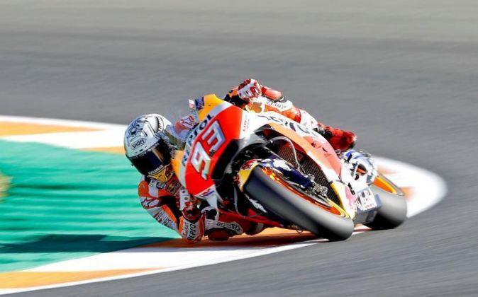 El piloto español del equipo Honda de MotoGP, Marc Márquez.