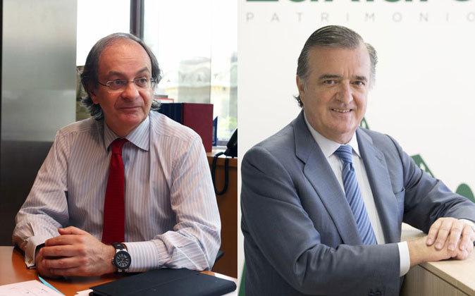 Pere Viñolas, consejero delegado de Colonial, y Luis Alfonso López...