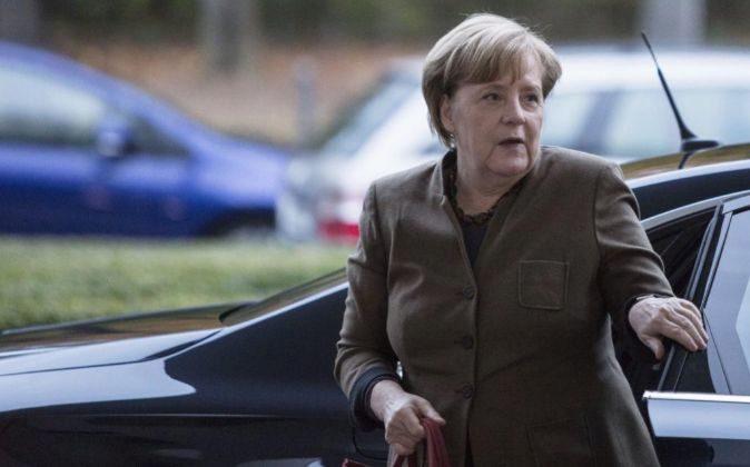 La canciller alemanar Angela Merkel, el domingo pasado.