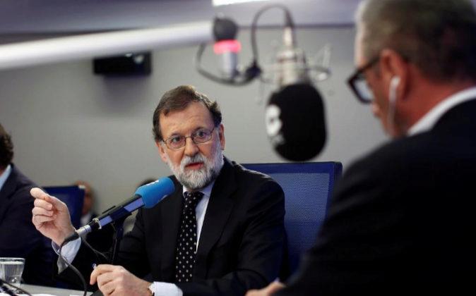 Rajoy, hoy en la Cadena COPE durante la entrevista.