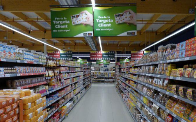 Imagen de un supermercado Bon Preu.
