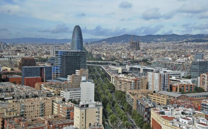 Skyline de Barcelona.