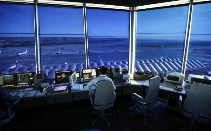 Enaire, gestor de navegación aérea en España.