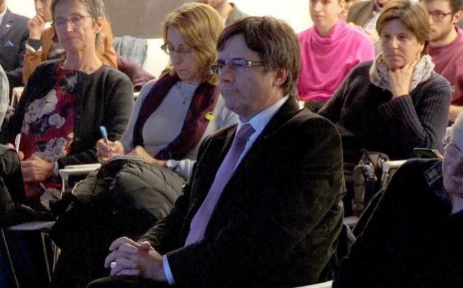 Imagen de televisión del expresidente de la Generalitat Carles...