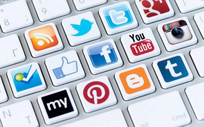 Teclado de redes sociales.
