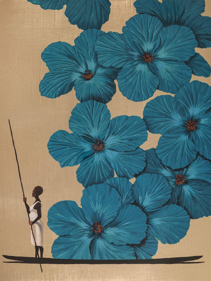 Bonches - Bijao: Serigrafía sobre madera y hojilla...