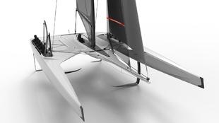 El VS40 es un catamarán con 'foils' de 11,75 metros ideado...