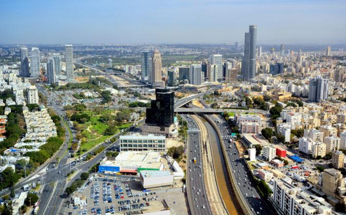 Vista aérea de la ciudad de Tel Aviv.