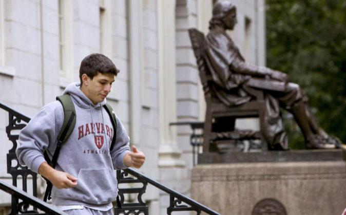 Un estudiante de la Universidad de Harvard.