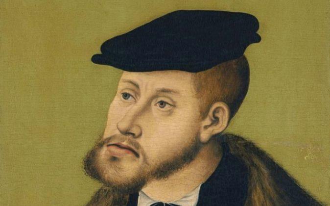 YLucas Cranach el Viejo: 'Retrato del emperador Carlos V',...